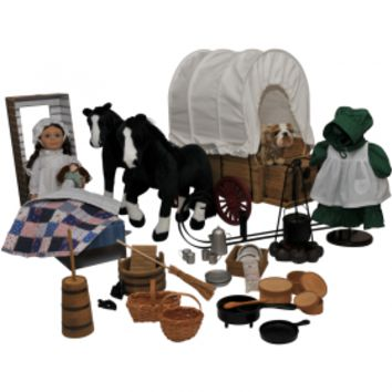 "Little House® 50 Piece American Prairie 18"" Doll, Clothing, Furniture & Accessory Set"