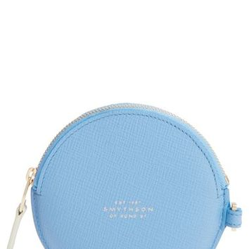 Smythson Circle Leather Coin Purse | Nordstrom