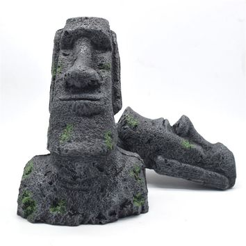 Easter island statue tank ornament