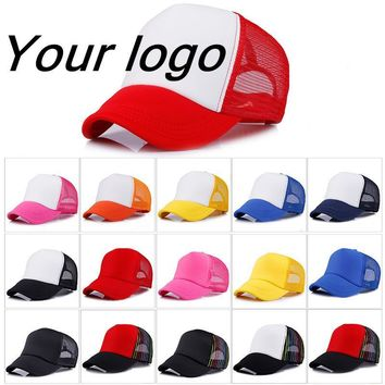 Trendy Winter Jacket Factory Price!  Custom LOGO Design Cheap 100% Polyester Hats for children Baseball Cap Blank Mesh Adjustable Baseball Hat AT_92_12