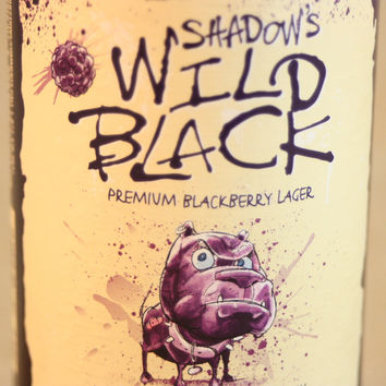 Drinking Glass from Recycled Shadow's Wild Black Beer Bottle, 8 oz, Unique Barware, Unique Gift, ONE glass