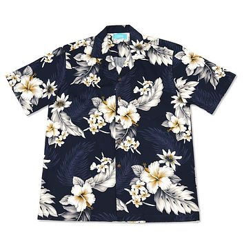 blueberry hawaiian cotton shirt