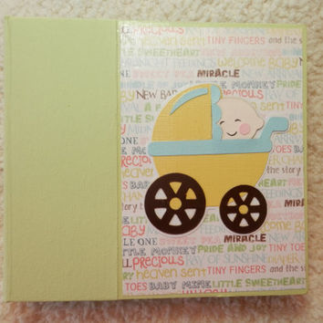 6x6 Baby Girl or Boy Scrapbook Photo Album