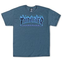 Thrasher Magazine Shop - Dark Heather Flame Logo T-Shirt