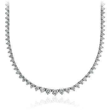 Graduated Diamond Eternity Necklace in 18k White Gold (7 ct. tw.) | Blue Nile