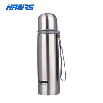 Haers 500ml Stainless Steel Thermos 12-24 Hours Double Layer Insulated Vacuum Water Bottle HB-500F