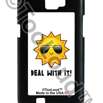 Deal With It Cute Sun Galaxy Note 2 Case  by TooLoud