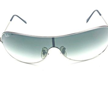 0cdc556d37 RB 3211 Ray Ban SHIELD SUNGLASSES Unisex Silver Frames Gray Lens