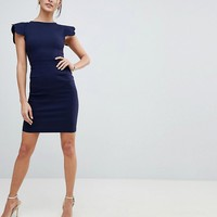 Vesper Pencil Dress With Scallop Sleeve at asos.com