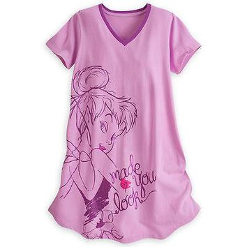 Licensed cool TINKER BELL FITTED NIGHT SHIRT For WOMEN DISNEY STORE Peter Pan Fairy XL/2XL NEW