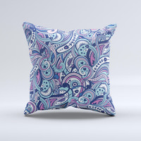 The Vibrant Purple Toned Sproutaneous ink-Fuzed Decorative Throw Pillow