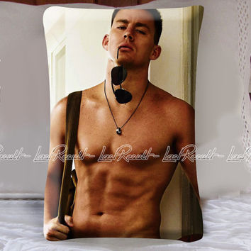 Channing Tatum Sporty Style in Decorative Pillow Covers
