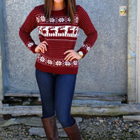 Vintage Winter Knit {Burgundy}
