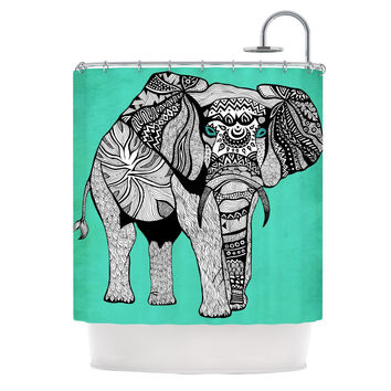"Pom Graphic Design ""Elephant of Namibia Color"" Shower Curtain"