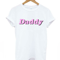 daddy letters print Women tshirts Cotton Casual Funny T Shirt For Lady Top Tee Hipster white Drop Ship Z-297