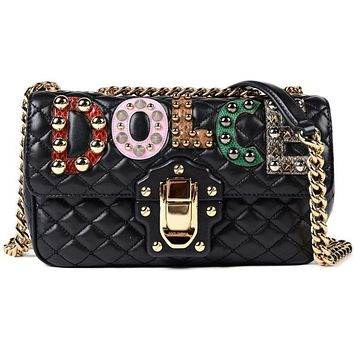 Dolce & Gabbana Lucia Quilted Shoulder Bag