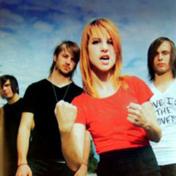 Paramore Group Shot Music Poster