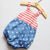 4th of July Unisex Baby Romper Baby Boy Romper Baby Girl Romper Baby Shower Gift Bubble Romper Newborn Toddler Romper Outfit Sunsuit