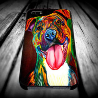 paint pitbull art painted for iPhone 4/4s/5/5s/5c/6/6 Plus Case, Samsung Galaxy S3/S4/S5/Note 3/4 Case, iPod 4/5 Case, HtC One M7 M8 and Nexus Case ***