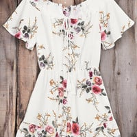 Cupshe Slowly Killing Me Floral Romper