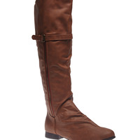 Exposed Zipper Riding Boots | Wet Seal