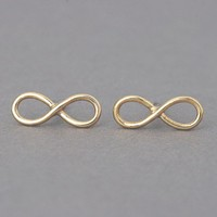 Small Infinity Earrings Studs Gold Infinity Jewelry from Kellinsilver.com