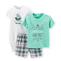 Carter's Newborn-24 Months Captain of The Ship 3-Piece Short Set - Nav