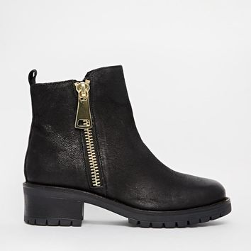 ALDO | ALDO Miroasa Zip Side Flat Ankle Boots at ASOS