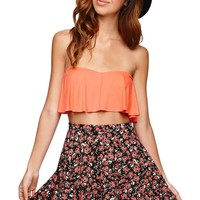 LA Hearts Floral Skater Skirt - Womens Skirt - Red -