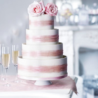 Shimmering Hoop Chocolate Wedding Cake (White & Pink) | M&S