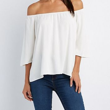 Floating Choker Neck Top