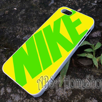nike logo yellow case for iPhone 4/4s/5/5s/5c/6/6+ case,iPod Touch 5th Case,Samsung Galaxy s3/s4/s5/s6Case, Sony Xperia Z3/4 case, LG G2/G3 case, HTC One M7/M8 case galaxy