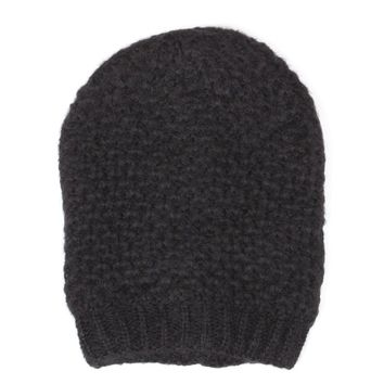 Slouchy Mid-weight Ringlet Patterned Knit Beanie Hat