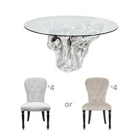 Chic Combo - Sequoia Dining Table + 4 Waterloo Dining Chairs | Dining Room | Furniture | Z Gallerie
