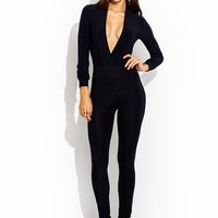 Deep Down Plunging Jumpsuit