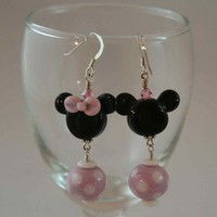 Mickey 'n Minnie Mouse Earrings | UniqueDesignsbyTammy - Jewelry on ArtFire