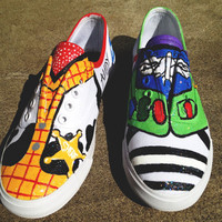 Toy Story Custom Shoes/Toms