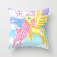Fluttershy Throw Pillow by Susaleena