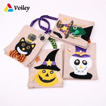 Halloween Party Trick or Treat Cute Pumpkin Witches Candy Boxs Baby Shower Birthday Decor Gift Organizer Kids Favor Handbag,7