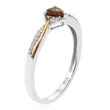 Scapolite and Zircon 14k over Sterling Silver Ring