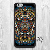 Black Lace Floral Mandala Protective Hard Skin Mobile Phone Case For iPhone 6 6s 6 plus 5c 5s 5 4 4s Case Cover Original