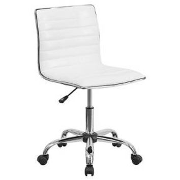Low Back Armless Designer Swivel Task Chair White - Flash Furniture