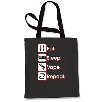 Eat Sleep Vape Repeat Shopping Tote Bag