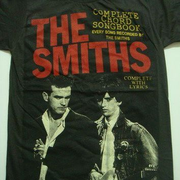 the smiths morrissey and marr song book t-shirt women size s