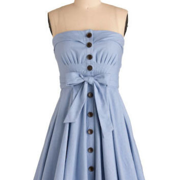 Zanzibar Dress in Blue | Mod Retro Vintage Dresses | ModCloth.com