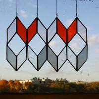 Stained Glass Elements: Diamond Drops (set of 4)