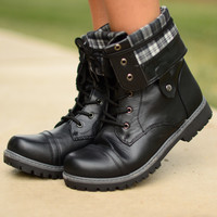 Making Tracks Combat Boots - Black