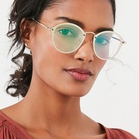 Rimless Overlay Round Sunglasses | Urban Outfitters