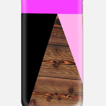 iPhone 6 Case Geometric Wood Print iPhone 5 Case,  Pink iPhone 5C Case, Triangle iPhone 4 Case, Galaxy S4 S3 iPhone 6, casebythatsnancy