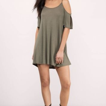 Ophelia Cold Shoulder Day Dress